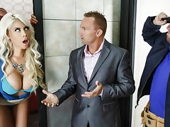 Bridgette B & Xander Corvus in Stuck In The Elevator - Brazzers tube porn video