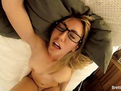 Busty blonde Brett Rossi's home video masturbation tube porn video
