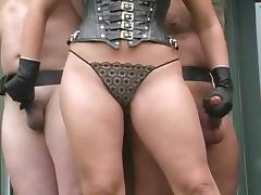 Handjob with leather gloves very hot tube porn video