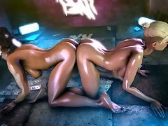 Cassie Cage and Kitana - Mortal Kombat tube porn video