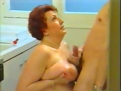 Surprising blowjob from mother-in-law tube porn video