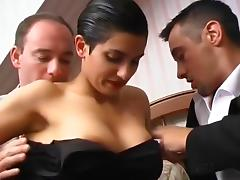 French Halle Berry Look Alike Down For Threesome tube porn video