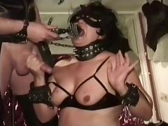 Tied Up Slut Gags Helplessly On Big Cock tube porn video