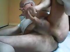 Grandpa play and stroke tube porn video