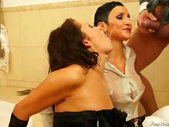 Sit back relax and enjoy watching this captivating FFM threesome action tube porn video