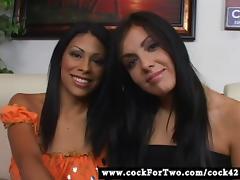 Latina Cassandra Cruz vs Mexican Lorena Sanchez tube porn video