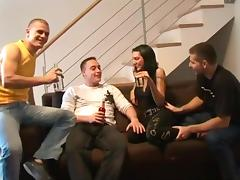 Creampie gangbang 3 german guys with hot junior gypsy girl tube porn video