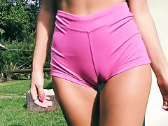 Big Ass Fit Body Fat Cameltoe Perky Tits Blonde Teen tube porn video