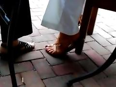 Sexy outside feet and sandals. tube porn video