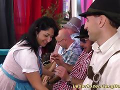 wild german amateur lederhosen groupsex fuck orgy with hot busty chicks tube porn video