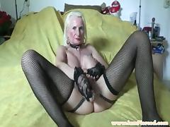 I am pierced granny with pussy piercings and chains tube porn video