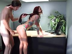 Monique Alexander fucked at work by guy with monster dick tube porn video