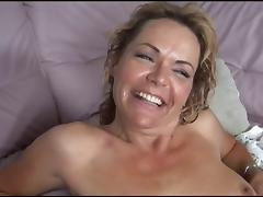 Busty MILF in stockings gets black cock pounding tube porn video