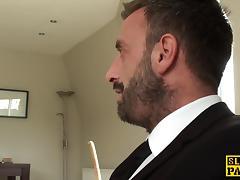 Spanked brit sub Tasha Holtz pounded roughly tube porn video