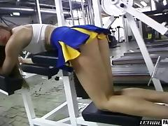 Sports cheerleader in uniform anal ravished in the gym tube porn video