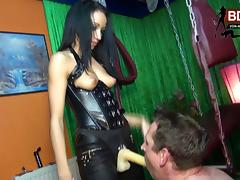 GERMAN BDSM TEEN FUCKS 2 USER IN THE ASS WITH STRAPON tube porn video