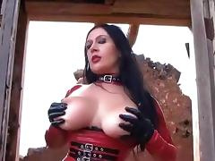 Hot Blowjob Action - Latex Blowjob Handjob with Latex Gloves - Cum in my Mouth tube porn video