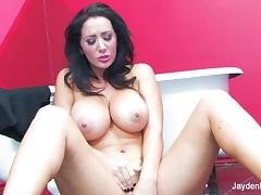 Super sexy Jayden Jaymes teases and masturbates tube porn video
