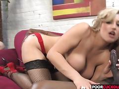 A BBC For HotWife Dayna Vendetta While Cuckold Watching tube porn video