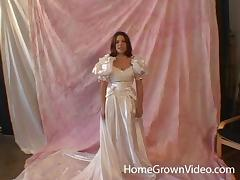 Massive love rod for a cute woman in a wedding dress tube porn video