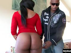 Ebony beauty with a great ass fucked hard by a handsome man tube porn video