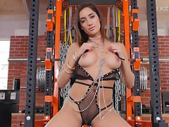 Chloe Amour's legs go up high so that her twat can meet a hard shaft tube porn video
