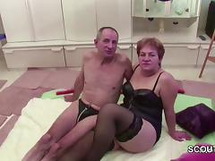 German Granny and Grandpa in Real Porn Casting for Cash tube porn video