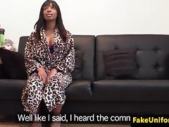 Black british babe doggystyled by english cop tube porn video