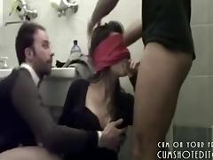 Blindfolded Amateur College Teen Sucking Cocks tube porn video