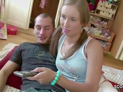 Brother Blackmail Petite Virgin Step-Sister to First Fuck tube porn video