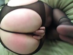 Phat Ass Shows Off New Crotchless Panties tube porn video