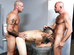 Sean Duran & Matt Stevens & Jason Barr in Glory Hole Birthday Surprise Video - MenOver46 tube porn video
