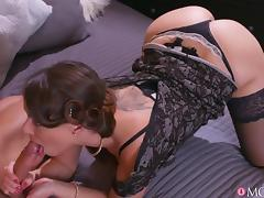 horny stepmom wants his cock in her shaved pussy tube porn video