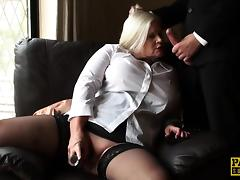 Mature submissive rubs her pussy tube porn video