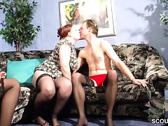 German MILF Teach Young Couple to Clear Sex Problems tube porn video