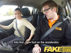 Fake Driving School Worst Driver Ever Get Fucked in the Car tube porn video