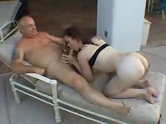 A women sucking old men's cock tube porn video