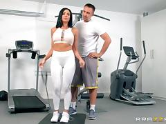 a break from working out for a hard fuck tube porn video