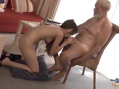Old Young - Big Cock Grandpa Fucked by Teen lick thick dick tube porn video