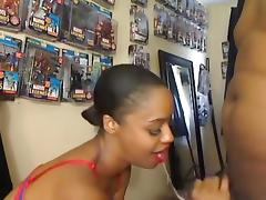 Ebony GF Has Nerd Bf Going Crazy tube porn video
