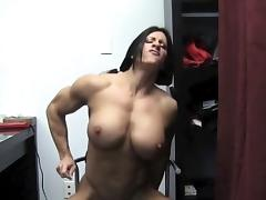 Muscular Angela Salvagno Fucks A Dildo tube porn video