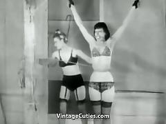 Teen Friends Playing with Bondage (1950s Vintage) tube porn video