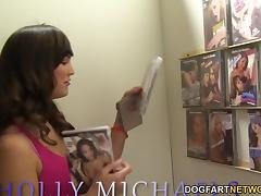 Holly Michaels Deepthroats BBC - Gloryhole tube porn video