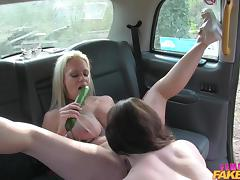 spread eagle in the back of a taxi tube porn video