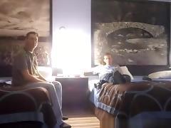 Hot blonde girlfriend threesome in hotel bedroom tube porn video