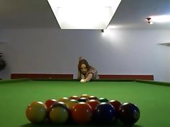 Killer girl2girl in shoes on billiards tube porn video