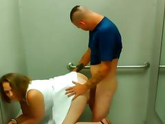 Quickie in the dressing room tube porn video