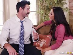 Ariella Ferrera cannot resist bouncing on a handsome hunk's penis tube porn video