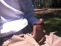 Public masturbation: almost got caught masturbating by some family tube porn video
