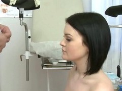 Brunette Sucks Her Doctors Cock For Test tube porn video